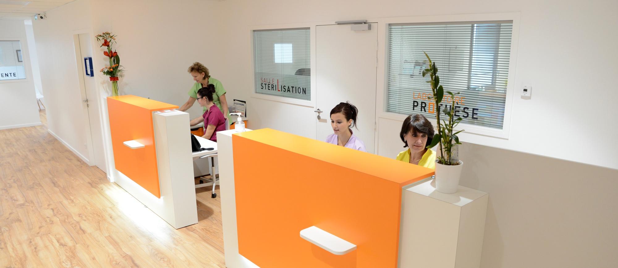photo accueil cabinet dentaire la roche sur yon vendee
